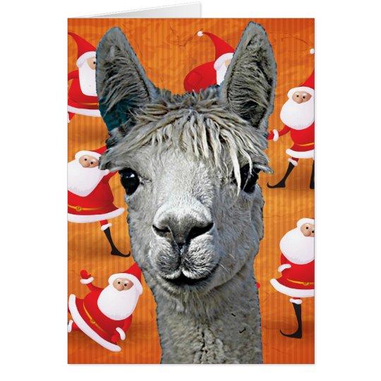 Alpaca Custom YouBeaut Designs Christmas Card