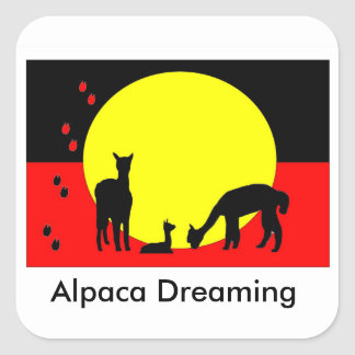Alpaca Dreaming Aboriginal Sticker