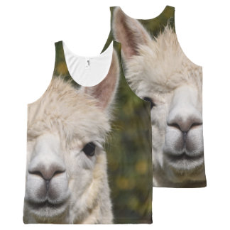Alpaca Llama Photography All-Over Print Singlet