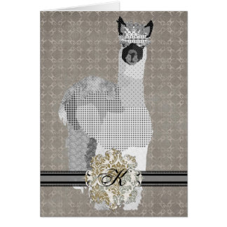 Alpaca Monogram Notecard Cards