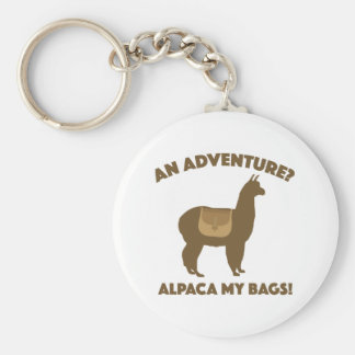 Alpaca My Bags Basic Round Button Key Ring