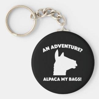 Alpaca My Bags Basic Round Button Key Ring
