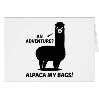 Alpaca My Bags Card