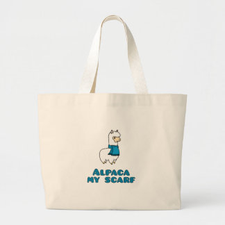 Alpaca My Scarf Large Tote Bag