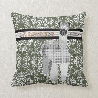 Alpaca Olive Damask  Mojo Pillow Throw Cushions