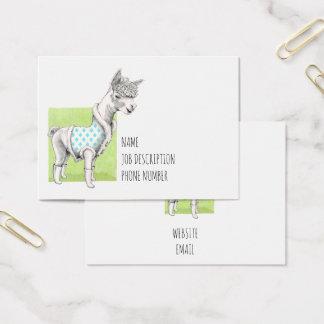 Alpaca on Green Business Card