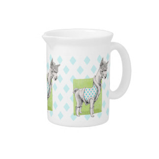 Alpaca on Green Pitcher