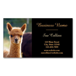 Alpaca Pet Magnetic Business Cards (Pack Of 25)