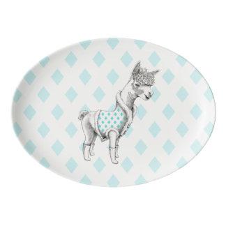 Alpaca Porcelain Coupe Platter