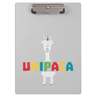 Alpaca Rainbow Unicorn Z0ghq Clipboard