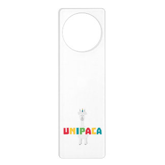 Alpaca Rainbow Unicorn Z0ghq Door Hanger