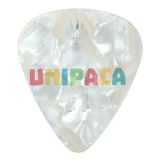 Alpaca Rainbow Unicorn Z0ghq Pearl Celluloid Guitar Pick