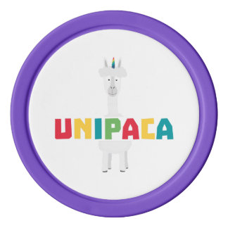 Alpaca Rainbow Unicorn Z0ghq Poker Chips