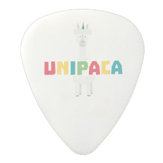 Alpaca Rainbow Unicorn Z0ghq Polycarbonate Guitar Pick