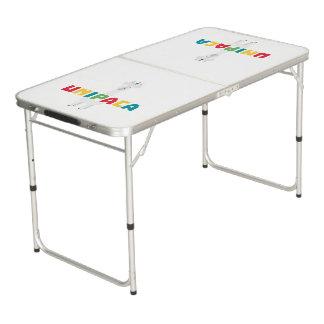 Alpaca Rainbow Unicorn Z0ghq Pong Table