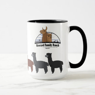 Alpaca Rainbow with HFR logo Mug