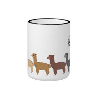 Alpaca Rainbow with HFR logo Ringer Mug
