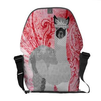 Alpaca Red Messenger Bag