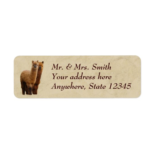 Alpaca Return Address Labels