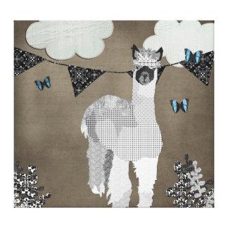 Alpaca Shades of Grey Canvas Art Canvas Prints