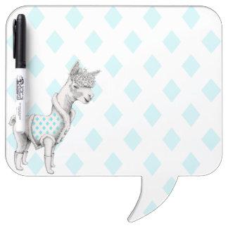 Alpaca Square Speech Bubble w/ Pen Dry Erase Board