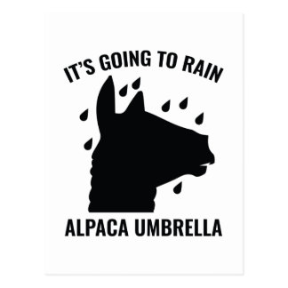 Alpaca Umbrella Postcard