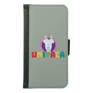 Alpaca Unicorn Unipaca Z4srx Samsung Galaxy S6 Wallet Case