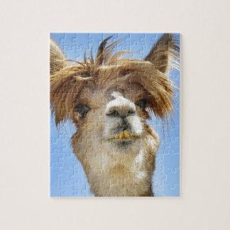 Alpaca with Crazy Hair Jigsaw Puzzle