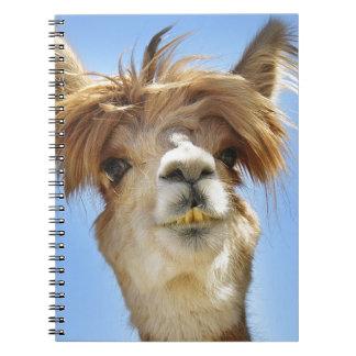 Alpaca with Crazy Hair Notebook