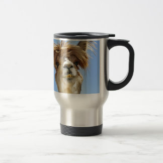 Alpaca with Crazy Hair Travel Mug
