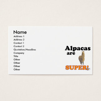 alpacas are super business card