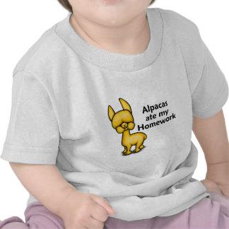 Alpacas ate my Homework Tee Shirts