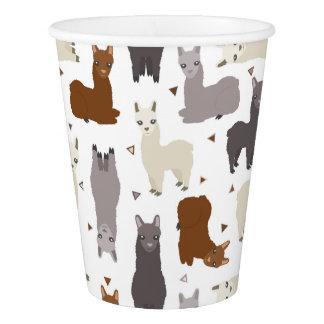 Alpacas Geo Pattern Paper Cup