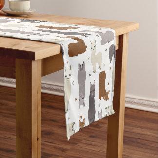 Alpacas Geo Pattern Short Table Runner