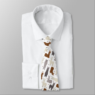 Alpacas Geo Pattern Tie
