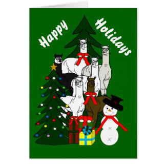 Alpacas Rock Christmas Season Holiday Card