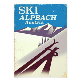 Alpbach Austrian ski travel poster