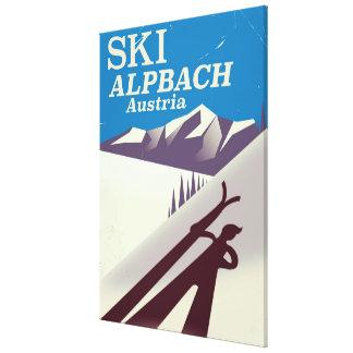 Alpbach Austrian ski travel poster Canvas Print