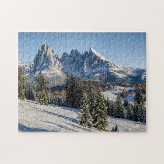 Alpe di Siusi winter landscape jigsaw puzzle