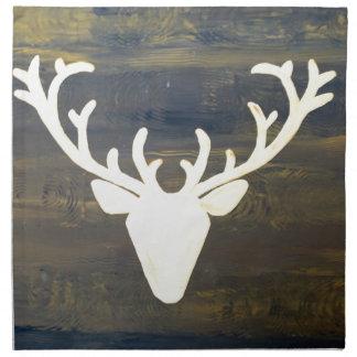 Alpen Chalet Style Deer Napkin