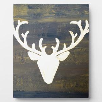 Alpen Chalet Style Deer Plaque