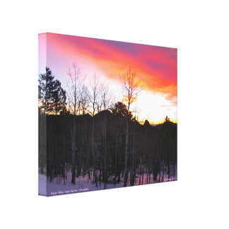 Alpen Glow over the Foothills of Denver, Colorado Gallery Wrapped Canvas