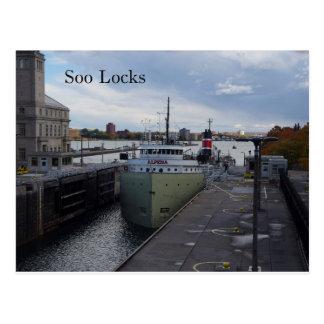 Alpena Soo Locks post card