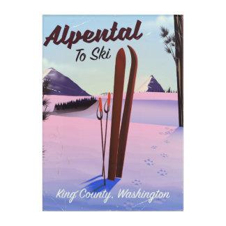 Alpental  King County, Washington ski poser Acrylic Wall Art