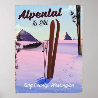 Alpental  King County, Washington ski poser Poster