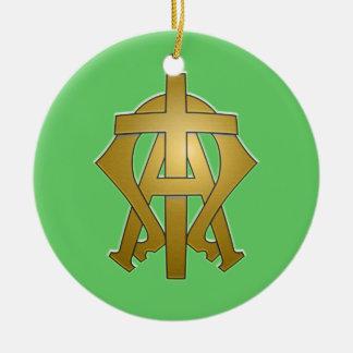 Alpha and Omega Ceramic Ornament