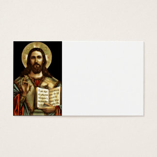 Alpha and Omega Jesus Business Card