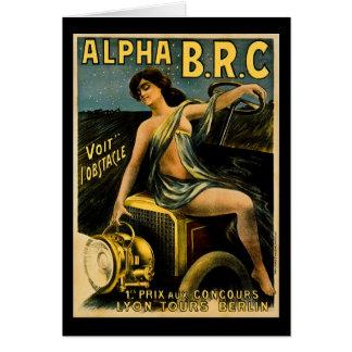 Alpha B.R.C. Lyon Tours Berlin Vintage Automobile Card