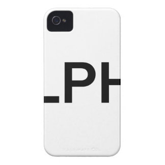 Alpha (BLACK) Case-Mate iPhone 4 Case