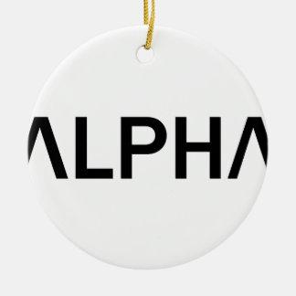 Alpha (BLACK) Ceramic Ornament